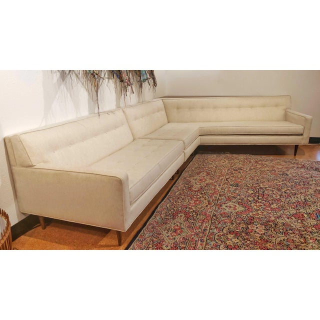 A fully restored 'Nuclear Sert' sectional sofa by Harvey Probber for Harvey Probber, INC. The set includes its original...