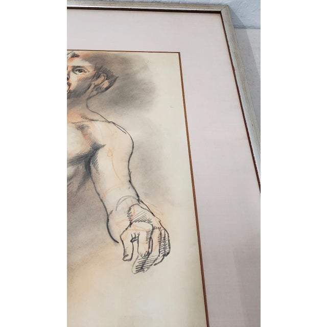 Framed Vintage Figural Nude Charcoal Study by Quitman For Sale - Image 4 of 10