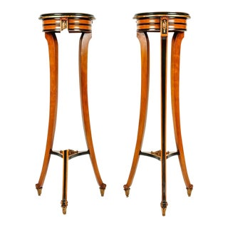 19th Century English Sand Wood Mahogany Stand / Pedestal - A Pair For Sale