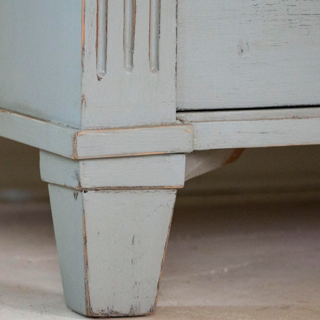 Gray 19th Century Antique Swedish Gustavian Nightstands-a Pair For Sale - Image 8 of 9