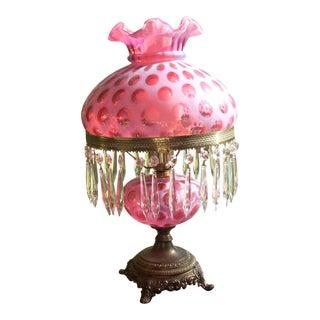 Vintage Cranberry Victorian Lamp
