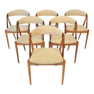 Kai Kristiansen Model 31 Dining Chairs in Oak - Set of 6 For Sale