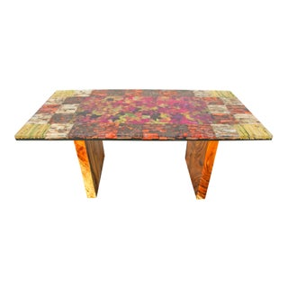 Organic Modern Autumn Leaves Dining Table For Sale