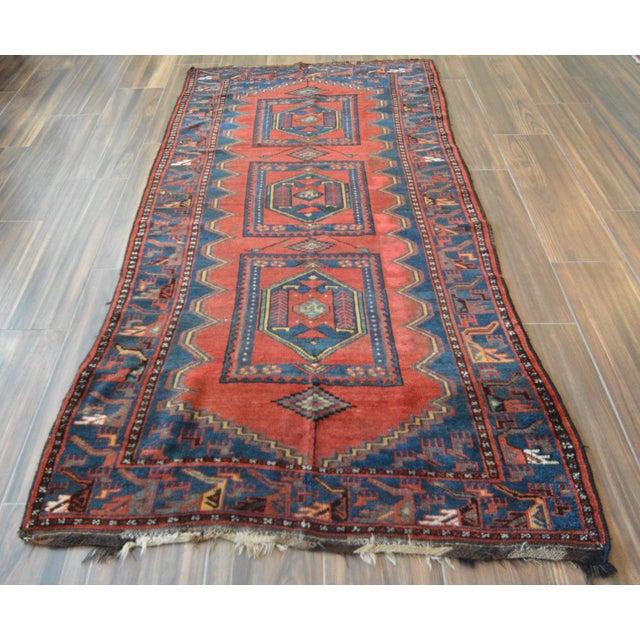 Antique Persian Kelardasht Rug Runner - 4′3″ × 8′6″ For Sale - Image 9 of 10
