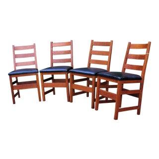 Antique L&jG Stickley Side Chairs - Set of 4 For Sale