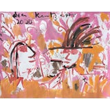 Image of 'Young Lovers' Painting on Paper by Sean Kratzert For Sale