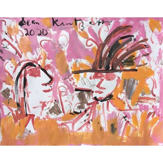 'Young Lovers' Painting on Paper by Sean Kratzert For Sale