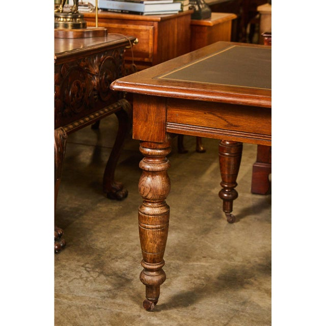 Large English Writing Table circa 1870's - Image 3 of 9