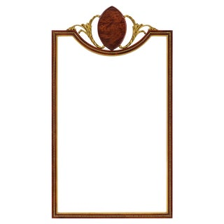 Gilded Mahogany Inverted Arch Mirror For Sale