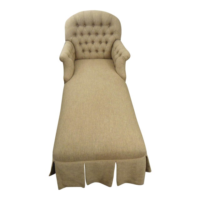 Tufted Brown Chaise - Image 1 of 5