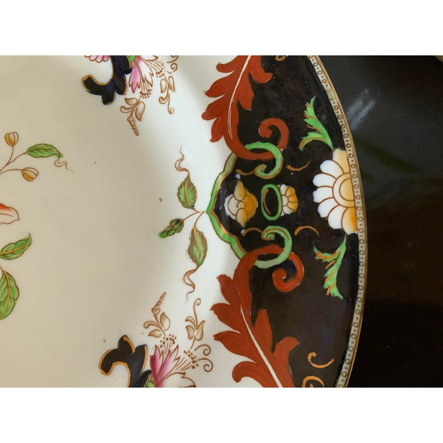 Victorian Early 20th Century English Royal Doulton Matsumai Hand Painted Serving Platter For Sale - Image 3 of 11