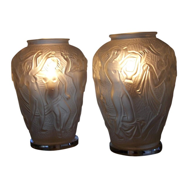 Mid Century Modern Bohemian Czech Lamps - Pair - Image 1 of 7