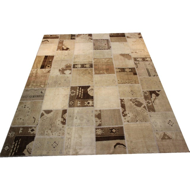Turkish Multi-Colored Patchwork Rug - 8' x 10' - Image 1 of 7