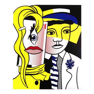 Roy Lichtenstein, Stepping Out, Offset Lithograph, 2004 For Sale