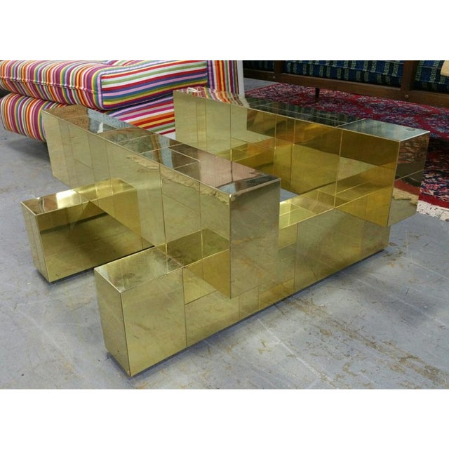 """Paul Evans Brass """"Cityscape"""" Coffee Table - Signed - Image 6 of 7"""