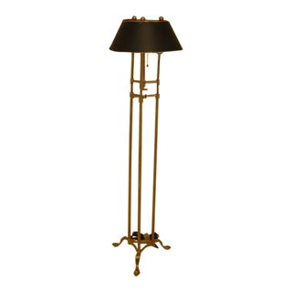 1980s Vintage Chapman Brass Floor Lamp For Sale