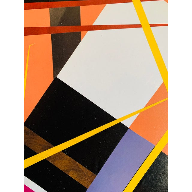 "Abstract ""Hard Edge"" Collage Nyc Artist John Peters For Sale - Image 3 of 4"