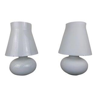 Mid-Century Modern Selenova Art Glass Lamps, Italy - a Pair For Sale