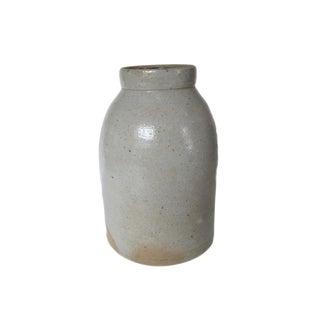 Antique Gray Stoneware Jar Vase Crock For Sale