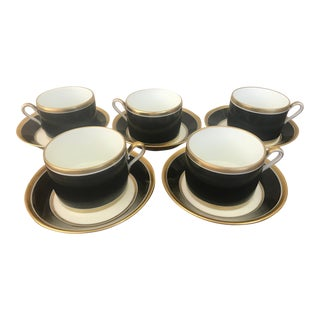 Vintage Richard Ginori Cups and Saucers From Florence, Italy- Set of 5 For Sale