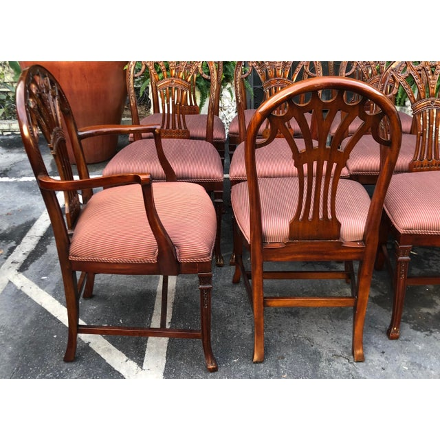 Set of 12 Maitland-Smith Georgian Mahogany Dining Chairs For Sale In Los Angeles - Image 6 of 11