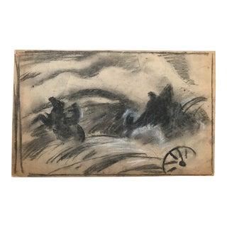 Eliot Clark Illustration of a Battle, 1930s For Sale