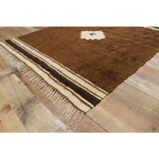 Mid 20th Century Vintage Turkish Kilim Rug, Square Flat-Weave Rug - 04'03 X 05'05 For Sale - Image 5 of 9