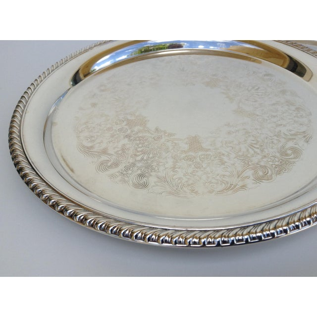 Large Silver Plate Round Platter Trays -Set of 3 - Image 6 of 11