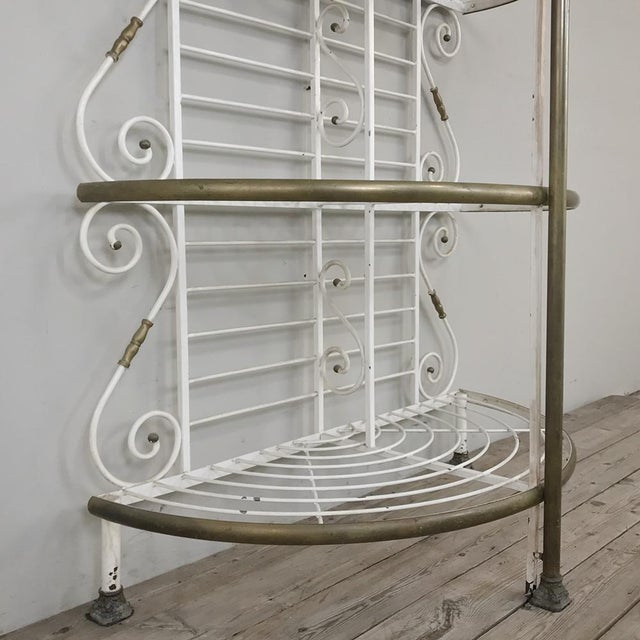 19th Century French Wrought Iron Demilune Baker's Rack For Sale - Image 9 of 12