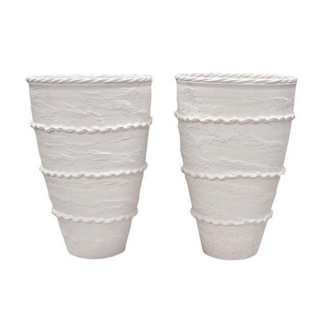 """Italian Ceramic """"Pompeii"""" Urns - a Pair For Sale"""