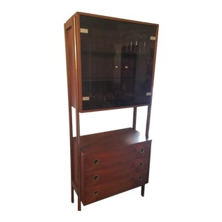 1960's Mid Century Wood Bar Cabinet For Sale