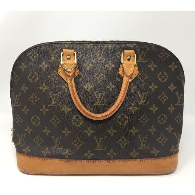 Gold Vintage Louis Vuitton Alma Bag For Sale - Image 8 of 8