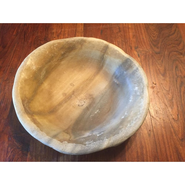 Old Marble Bowl - Image 2 of 5