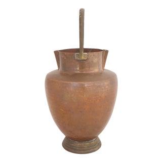 Art Deco Copper Vase For Sale