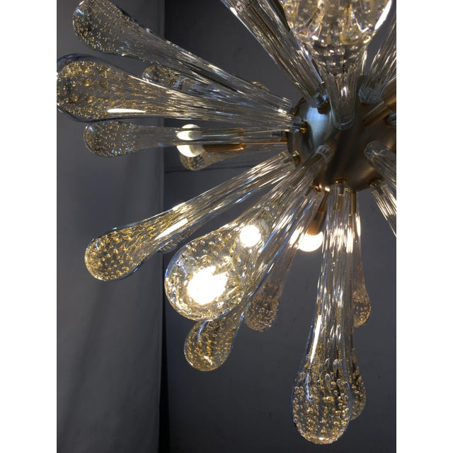 Chandelier Murano Glass Sputnik Metal Frame Gold Brushed For Sale In Columbus, GA - Image 6 of 8
