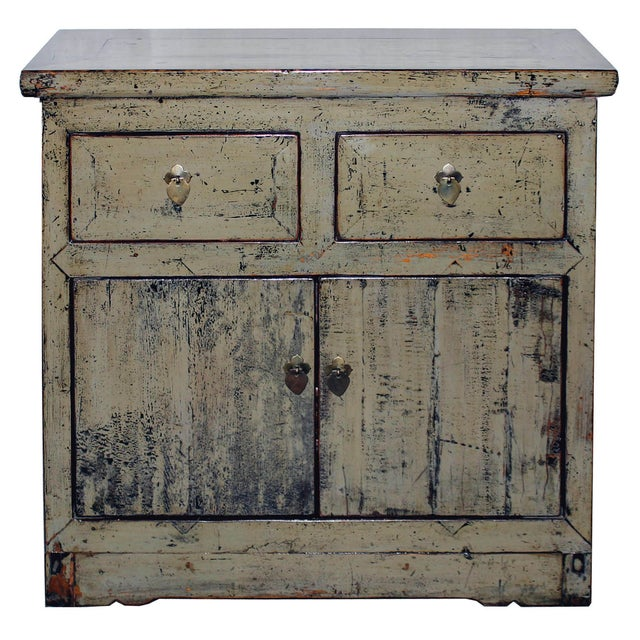 Khaki Shabby Chic Side Chest - Image 1 of 6