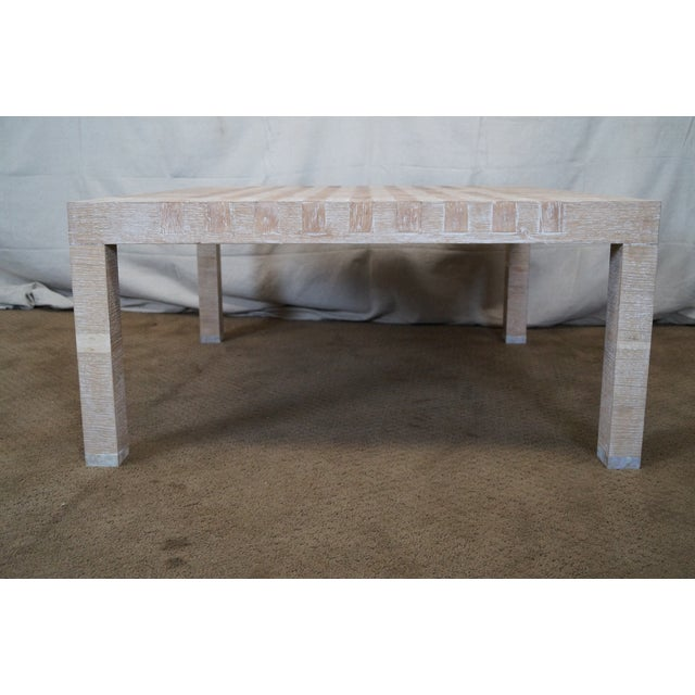 Jonathan Charles Houndstooth Parsons Coffee Table - Image 3 of 10