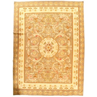 "Pasargad NY French Aubusson Design Flat Weave Rug - 7′4"" X 10′4″"