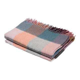 Contemporary Classic Multi-Color Checkered Throw For Sale