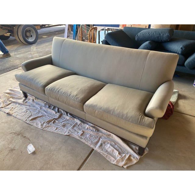 Baker Contemporary Rolled Arm Sofa/Couch In Excellent Condition Sofa Originally Retailed For $10,000 Small Mark On the...
