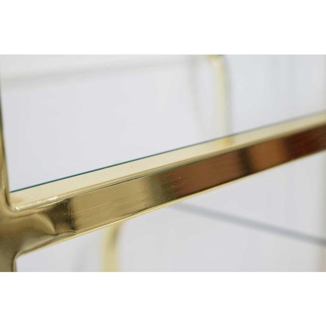 Milo Baughman for DIA Brass Finish Étagère For Sale In Dallas - Image 6 of 8