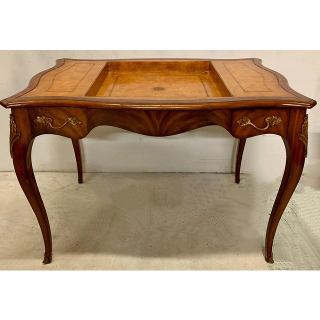 Maitland - Smith Maitland-Smith Tooled Leather Game Table For Sale - Image 4 of 8