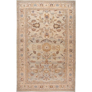 21st Century Modern Sultanabad Oversize Wool Rug 14 X 22 For Sale