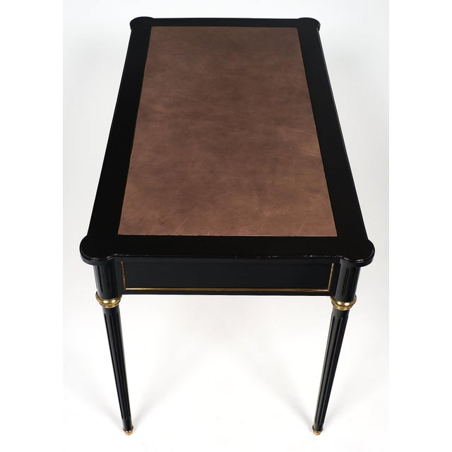 Early 20th Century Leather-Top Louis XVI Style Desk For Sale - Image 5 of 10