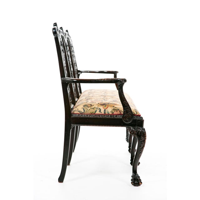 Mid 19th Century Mid 19th Century Ribbon Backed Chippendale Settee For Sale - Image 5 of 9