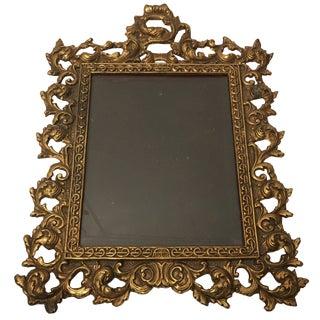 1930s Baroque Gold Frame For Sale