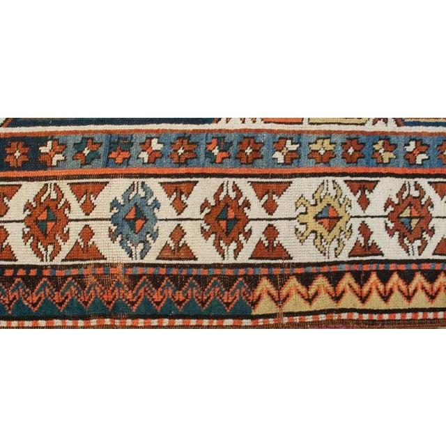 """19th Century Kazak Runner - 49"""" x 168"""" For Sale - Image 4 of 4"""