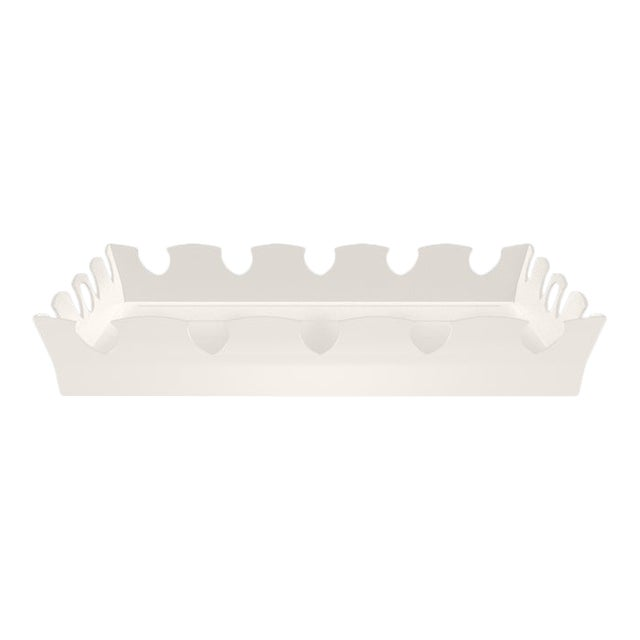 Oomph Ocean Drive Outdoor Tray, White For Sale