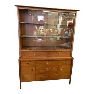 John Van Koert Design for Drexel Counterpoint Breakfront Cabinet Sideboard For Sale