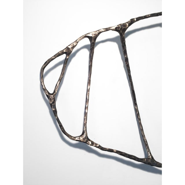 Bronze Fishbone Lost Wax Casting Sculpture by Steven Haulenbeek For Sale - Image 4 of 5